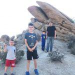 The boys in Joshua Tree National Park in California