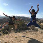 Jumping in Joshua Tree National Park in California