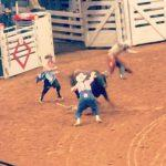 Bull roping event at the rodeo