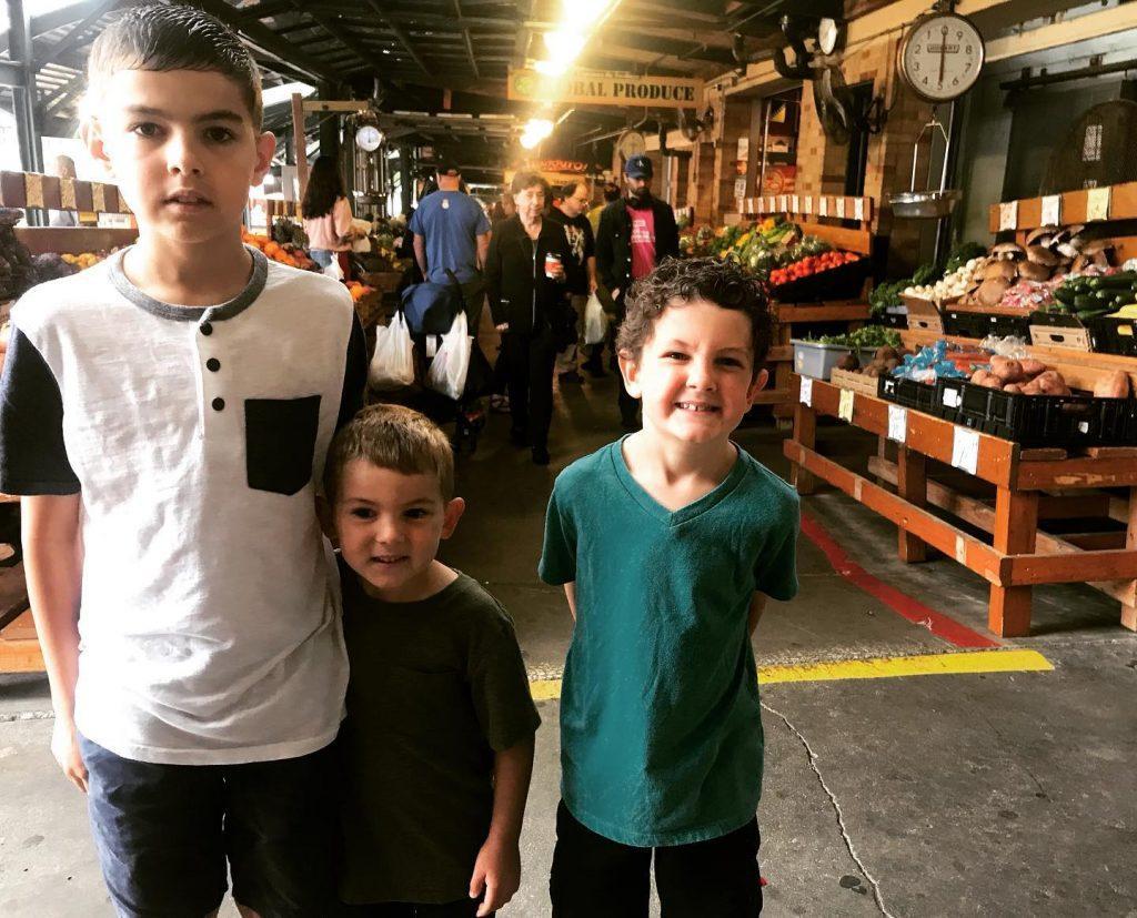 boys at Kansas City Market