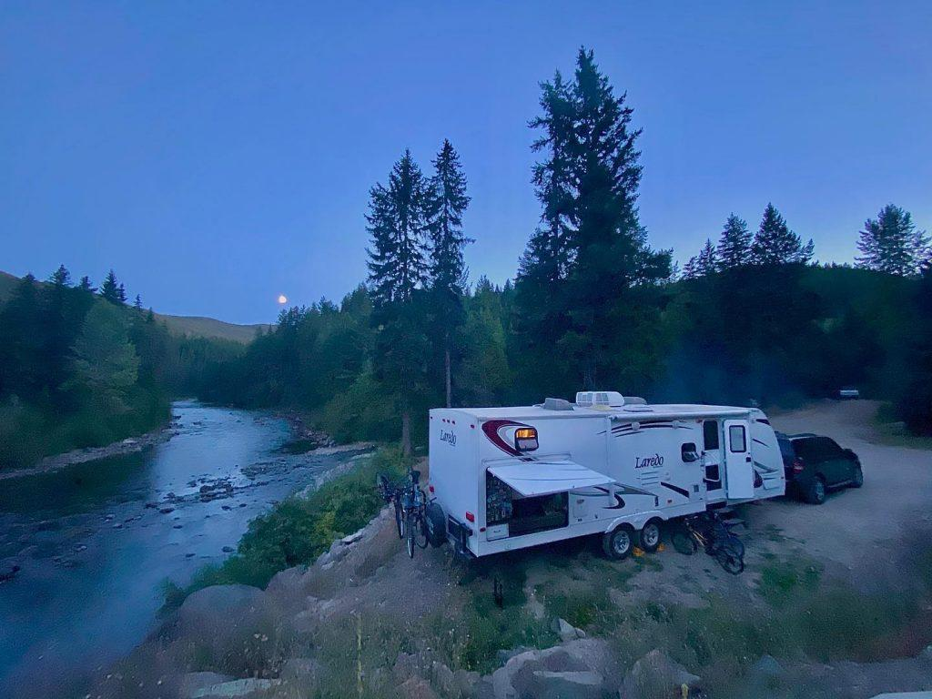 Dry Camping by a creek
