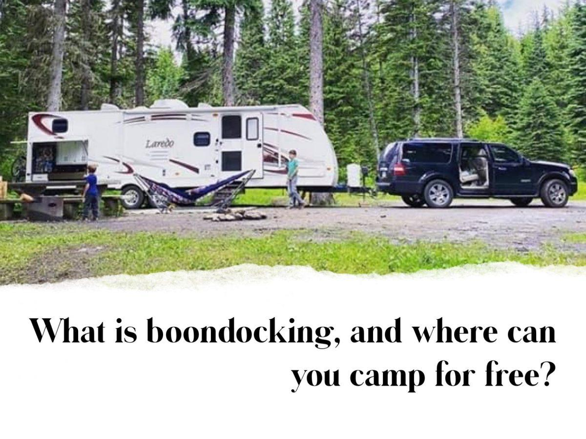 boon docking and camping for free